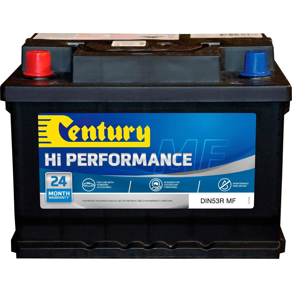 Century Car Battery - DIN53RMF, 500CCA