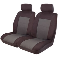 Imperial Seat Covers - Black Front Pair Adjustable Headrests Size 30, , scaau_hi-res