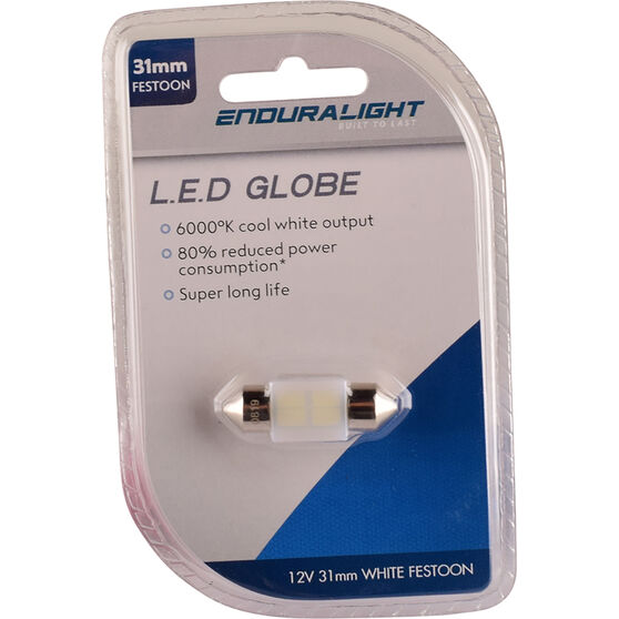 Enduralight Interior Globe - 31MM Festoon, LED White, , scaau_hi-res