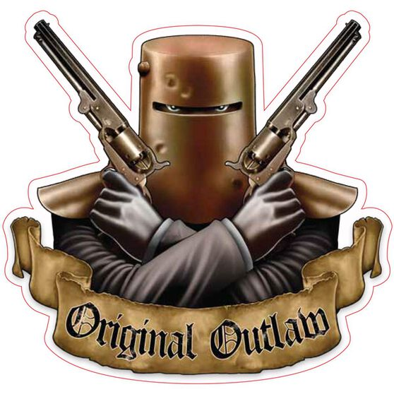 Hot Stuff Sticker - Ned Kelly Original Outlaw, Vinyl, , scaau_hi-res
