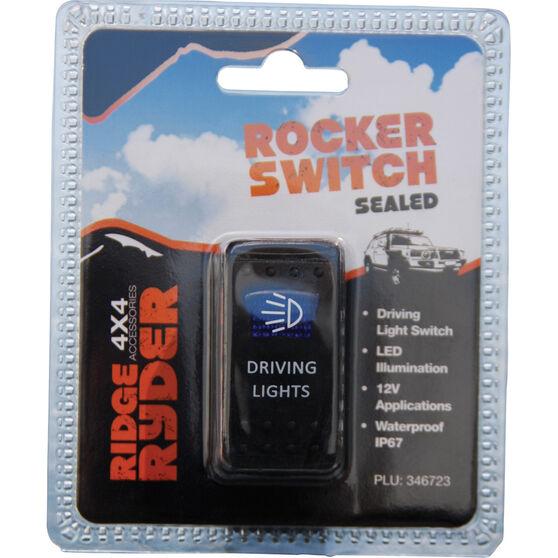 Ridge Ryder Sealed Rocker Switch - Driving Light, , scaau_hi-res