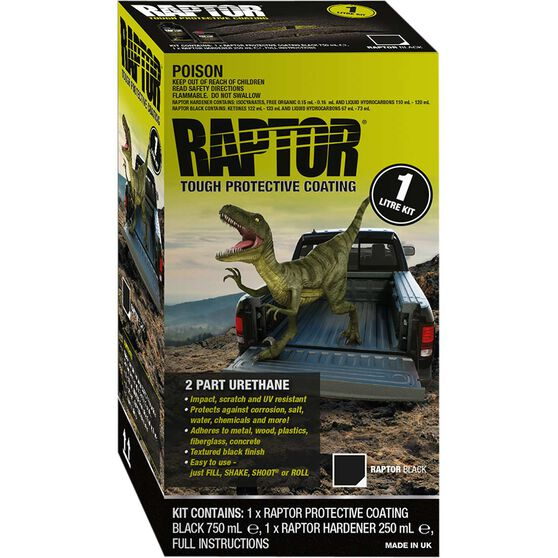 Raptor Bedliner 1L Black Kit