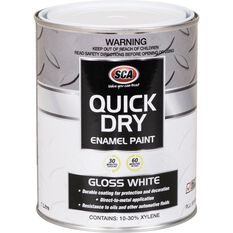 Quick Dry Enamel White 1 Litre, , scaau_hi-res