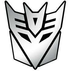 Hot Stuff Sticker - Decepticons, Chrome, , scaau_hi-res