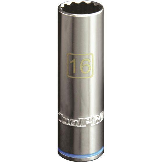 ToolPRO Single Socket - Deep, 1 / 2 inch Drive, 16mm, , scaau_hi-res