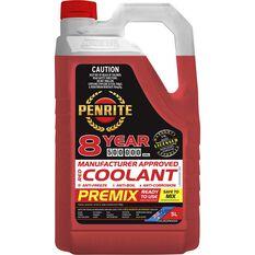 Penrite Red Long Life Anti Freeze / Anti Boil Premix Coolant - 5L, , scaau_hi-res
