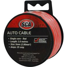 SCA Auto Cable - 25 AMP, 5mm, 3m, Red, , scaau_hi-res