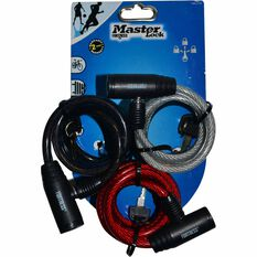 Master Lock Fortress Bike Lock - 8mm x 1.8m, 3 Pack, , scaau_hi-res