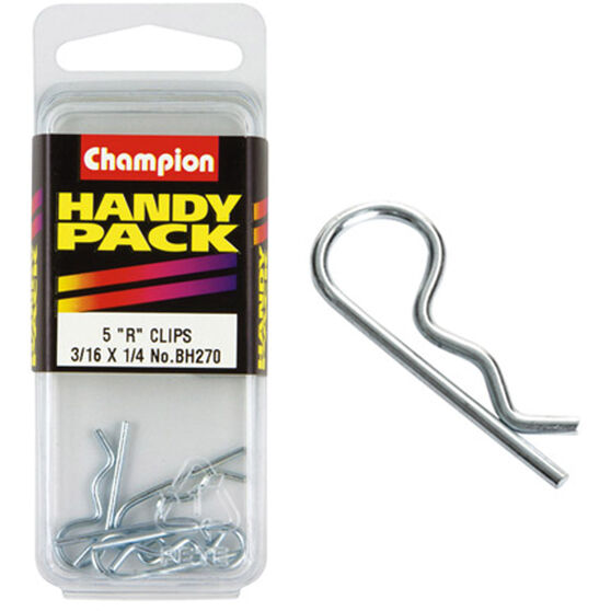 Champion R Clips - 3 / 16-1 / 4inch, BH270, Handy Pack, , scaau_hi-res