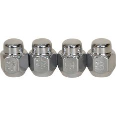 Wheel Nuts - Tapered, Chrome - For Toyota Landcruiser 5 Stud, 14x1.5MM, , scaau_hi-res