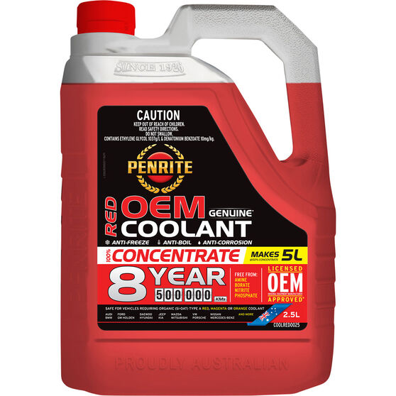 Penrite Red OEM Coolant Concentrate 2.5 Litre, , scaau_hi-res