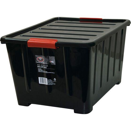 Sca storage box litre black supercheap auto