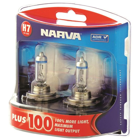 Narva Headlight Globe, Plus 100 - H7, 12V, 55W, , scaau_hi-res