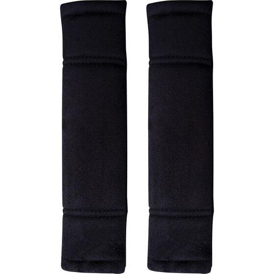 Premium Cloud Suede Seat Belt Buddies - Black Pair, , scaau_hi-res