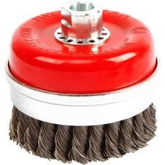 ToolPRO Wire Cup Brush - 100mm, Twist Knot, , scaau_hi-res