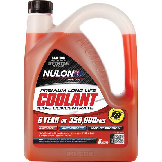 Nulon Red Long Life Anti-Freeze / Anti-Boil Concentrate Coolant - 5 Litre, , scaau_hi-res