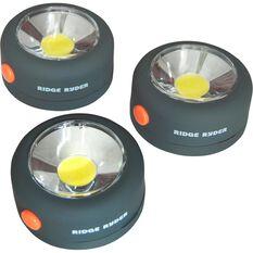 Ridge Ryder Round COB LED Light - 2W, 3 Pack, , scaau_hi-res