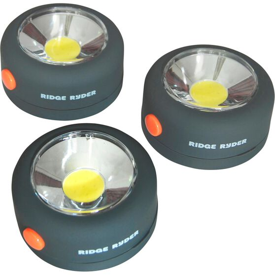 Ridge Ryder Round COB LED Light - 2W, 3 Pack, , scaau_hi-res
