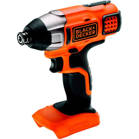 Black & Decker Cordless Lithium Driver Bare Unit - 18V Li-Ion, , scaau_hi-res