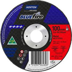 Norton Metal Cut off Disc 100mm x 2.5mm x 16mm, , scaau_hi-res