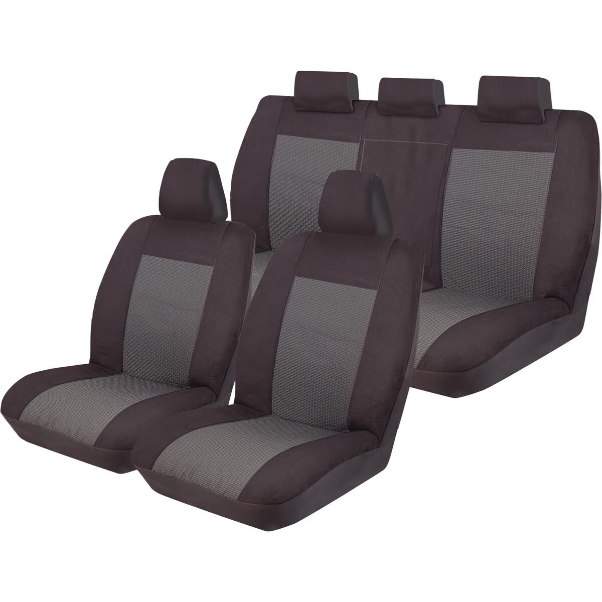 CAR SEAT COVERS FOR TOYOTA RAV4 RAV 4 FULL SET BLACK GREY