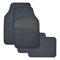 SCA Loop Pile Carpet Floor Mats - Charcoal, 4 Pack, , scaau_hi-res