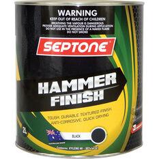 Septone Paint Hammer Finish - Black, 2 Litre, , scaau_hi-res