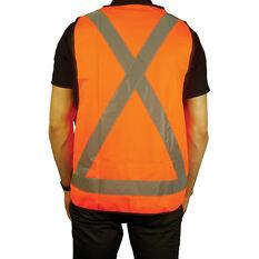 Trafalgar Hi-Vis Day Night Safety Vest Orange X-Large, , scaau_hi-res