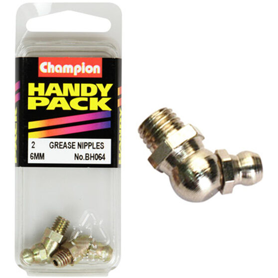 Champion Grease Nipples - 6mm, 45°, BH064, , scaau_hi-res