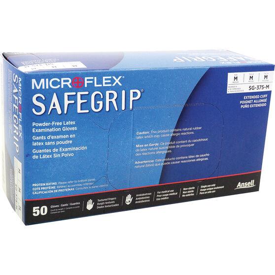 MICROFLEX Safegrip PF Latex Gloves 50 pack Medium, , scaau_hi-res