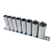 ToolPRO Socket Rail Set - 3 / 8 inch Drive, Metric, Deep, 8 Piece, , scaau_hi-res