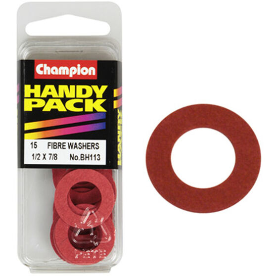 Champion Fibre Washers - 1 / 2inch X 7 / 8inch, BH113, Handy Pack, , scaau_hi-res
