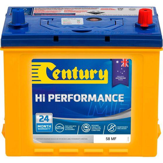 Century Hi Performance Car Battery 58 MF, , scaau_hi-res