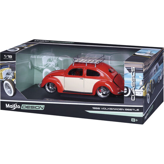 Die Cast 1956 VW Beetle - 1:18 Scale Model, , scaau_hi-res