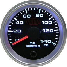 SAAS Oil Pressure Gauge - Black, 52mm, , scaau_hi-res