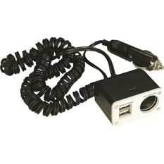 12V SCA Socket - Single, with USB, 8 Amp, , scaau_hi-res