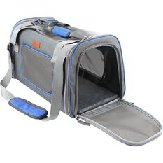 CABIN CREW PETS PET CARRIER GREY/BLUE, , scaau_hi-res
