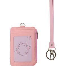 Lanyard - Double Sided, Card Colder, Zip Purse, Pink, , scaau_hi-res
