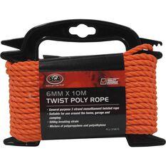 SCA 3 Strand Twist Poly Rope - 6mm X 10m, , scaau_hi-res