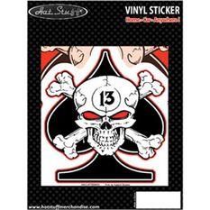 Hot Stuff Sticker - Skull Spades, Vinyl, , scaau_hi-res