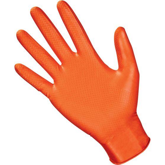 SAS Astro-Grip Nitrile Gloves - Orange, Medium, 100 Pieces, , scaau_hi-res