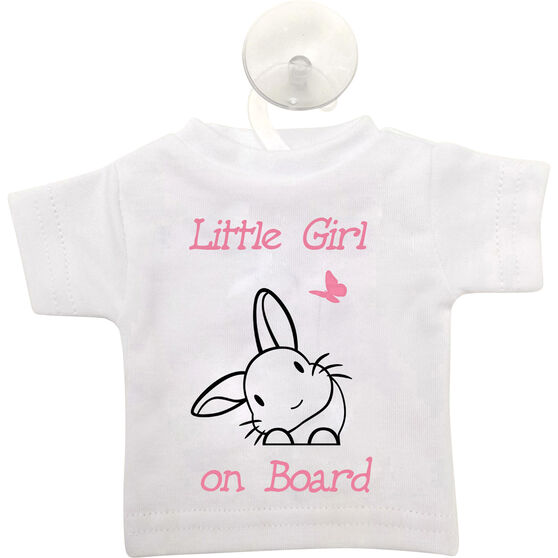 Cabin Crew Kids Little Girl on Board T-Shirt Sign Pink, , scaau_hi-res