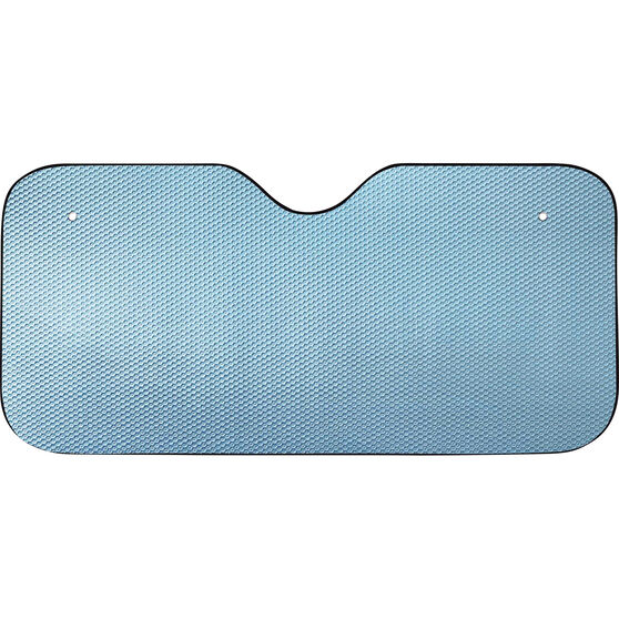 SCA Tall Bubble Sunshade - Matte Blue, Accordion, Front, , scaau_hi-res