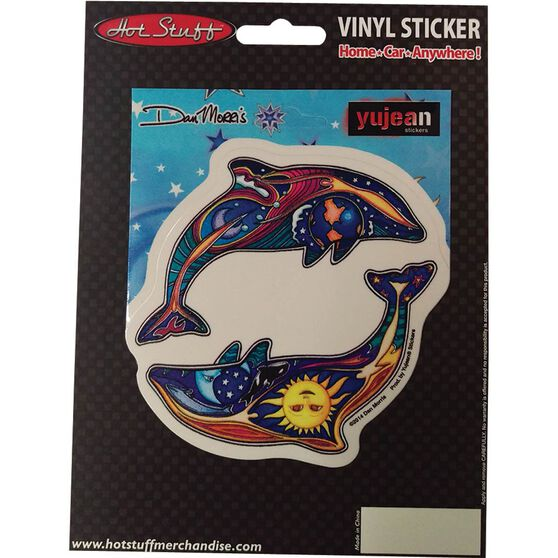 Hot Stuff Sticker - Peace Dolphins, Vinyl, , scaau_hi-res