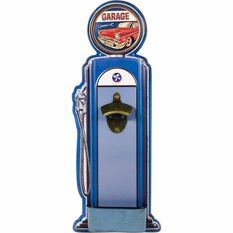 Tin Sign Fuel Bowser With Bottle Opener Blue, , scaau_hi-res