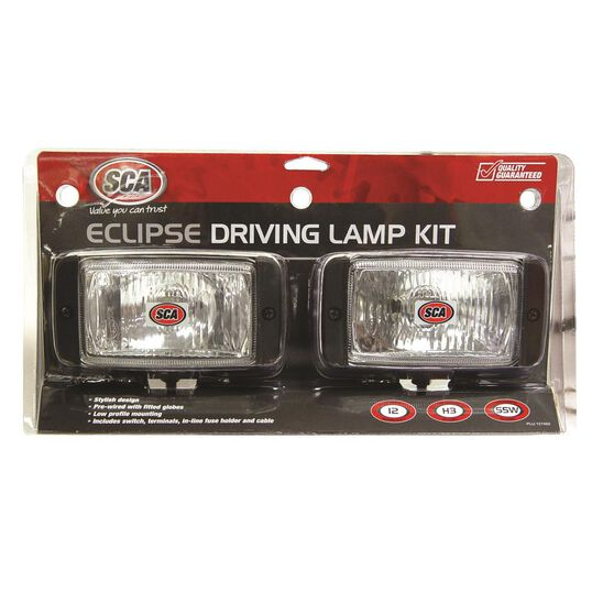 SCA Driving Light Kit - 55W, Eclipse, 144mm x 74mm, Rectangle, 2 Pack, , scaau_hi-res