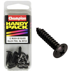 Champion Mush Head Screws - 8G X 3 / 4inch, BH753, Handy Pack, , scaau_hi-res