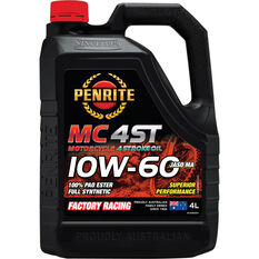 Penrite MC-4ST PAO & Ester Motorcycle Oil 10W-60 4 Litre, , scaau_hi-res