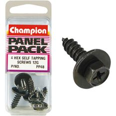 Champion Hex Self Tapping Screw - 12G, PP48, Panel Pack, , scaau_hi-res