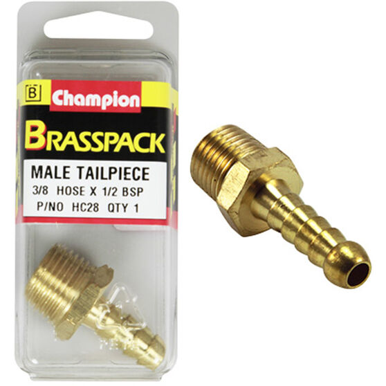 Champion Male Hose Barb - 3 / 8inch X 1 / 2inch, Brass, , scaau_hi-res